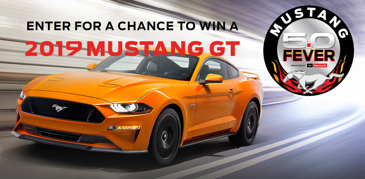 Win a 2019 Mustang GT in Mustang 5.0 Fever Sweepstakes