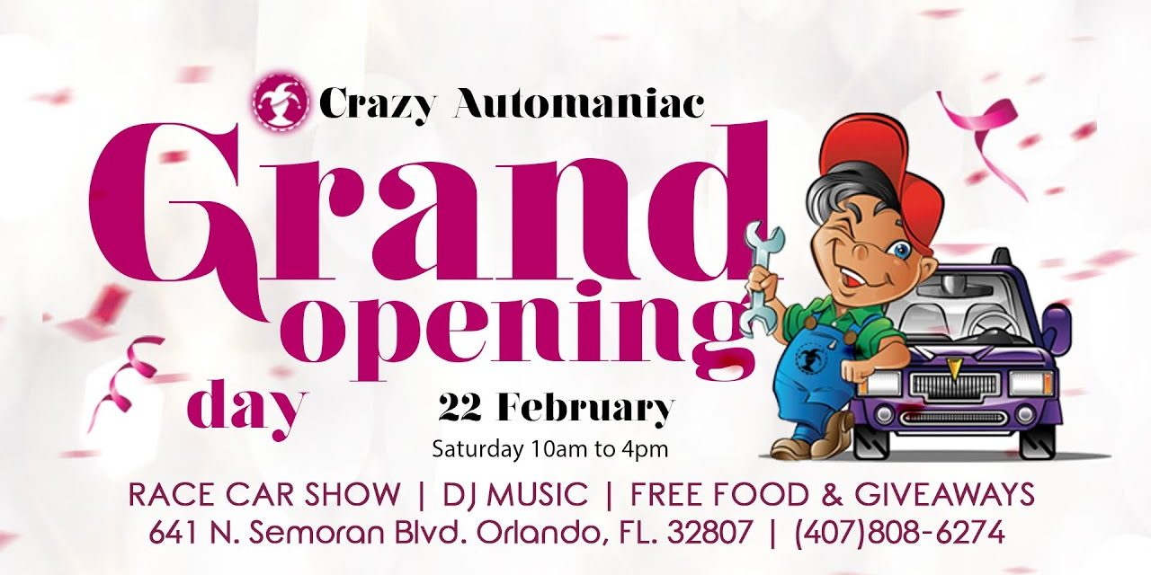 The Grand Opening Celebration of Crazy Automaniac Auto Repair Race Car Show 02-22-20.